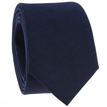 Midnight Blue Faux-Uni Tie in Wool