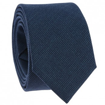 Petrol Blue Faux-Uni Tie in Wool