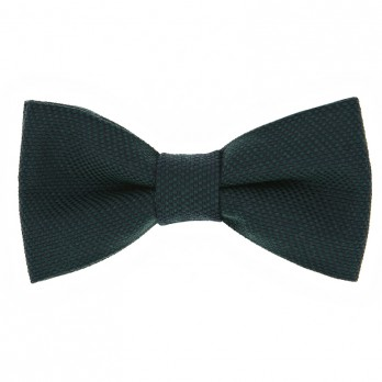 Green Bow Tie in Silk and Wool