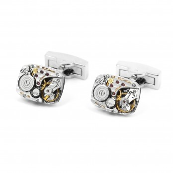Watch movement cufflinks - Hamilton type 911 gold