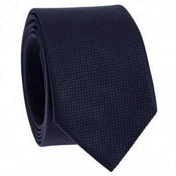 Japanese tie pattern seigaiha in Jacquard silk navy blue