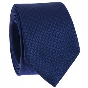 Jacquard silk tie japanese pattern seigaiha midnight blue