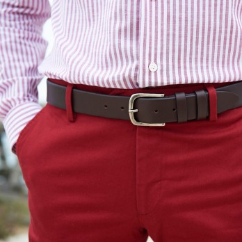 Leather Belt Dark Brown - Steve