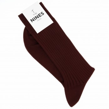 Burgundy premier cru cotton lisle socks