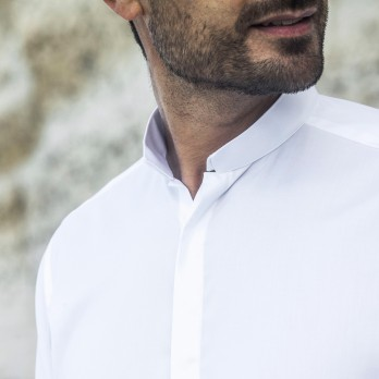 The wrinkle resistant shirt - Reverse collar white