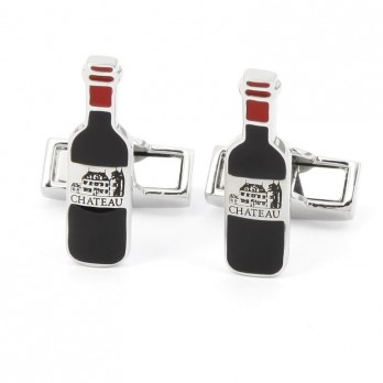Wine bottle cufflinks - Château