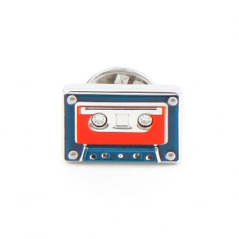 Audio tape Badge Pin - K7