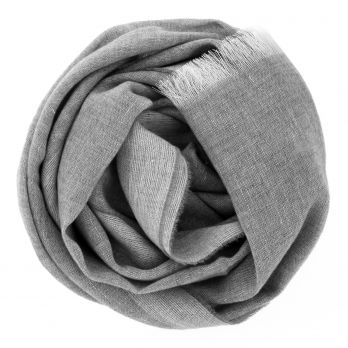 Cashmere and linen grey scarf