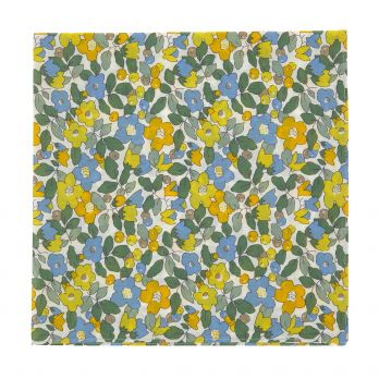 Yellow Liberty pocket square - Currant
