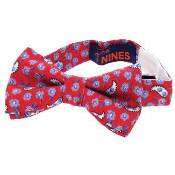 Red bow tie with flowers and paisley