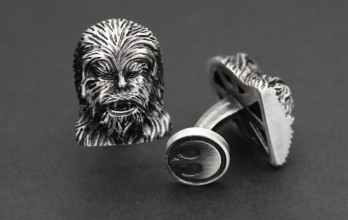 Star Wars cufflinks - Chewbacca Palladium