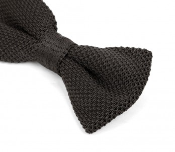 Anthracite Grey Knitted Bow Tie - Monza